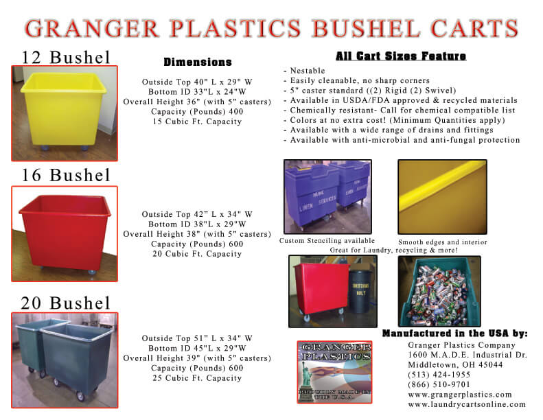 16 Bushel Carts Information, 16 Bushel Cart Information, 16 Bushel Laundry Cart Information