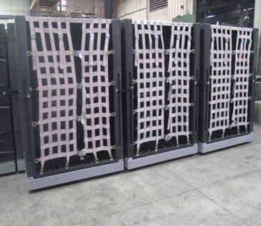 Cargo Shipping Containers with Adjustable Nets