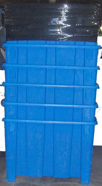 Roto-molded Gaylord, Gaylord Container, Forkliftable Container, Durable Container, Storage Container, Bulk Storage Container, Plastic Container, Bulk Storage Gaylord Container, Document Storage Container, Recycle Container, Waste Container, Warehouse Container, Long Life Container, Rotational Molding Containers
