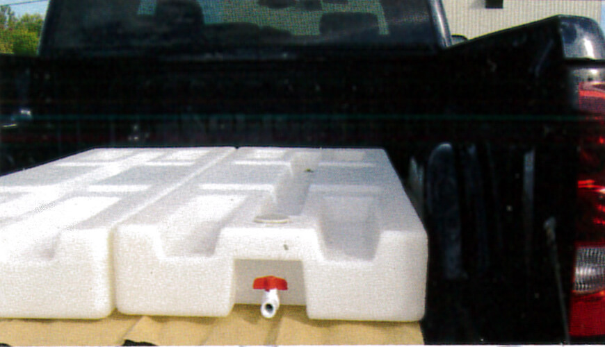 Water-Mates, Water Mates, Watermates, All Weather Traction Device, Pick Up Truck Traction Device, All Weather Traction, Add Weight to back of pick up truck, add weight for traction, sandbags for traction